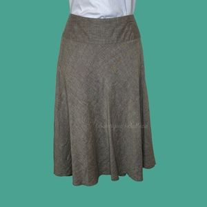 Nic+Zoe Heather Linen Blend Skirt Size 8